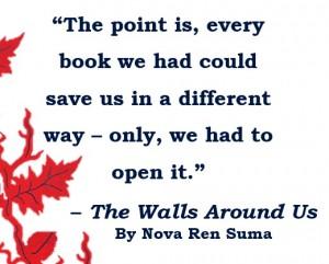 walls books quote